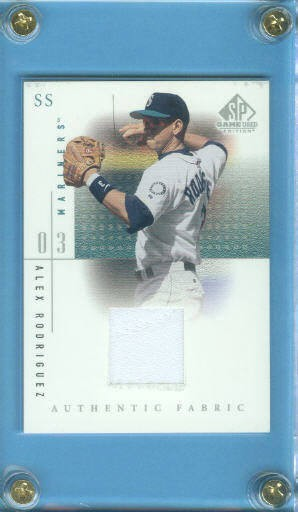 2001 SP Game Used Edition Authentic Fabric #ARM Alex Rodriguez Mariners DP front image