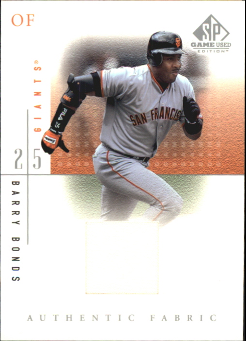 2001 SP Game Used Edition Authentic Fabric #BB Barry Bonds