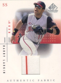 2001 SP Game Used Edition Authentic Fabric #BL Barry Larkin