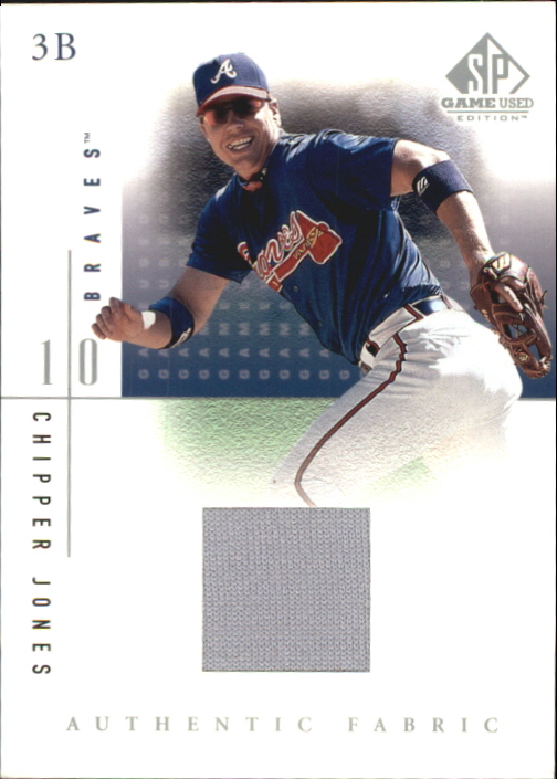 2001 SP Game Used Edition Authentic Fabric #CJ Chipper Jones
