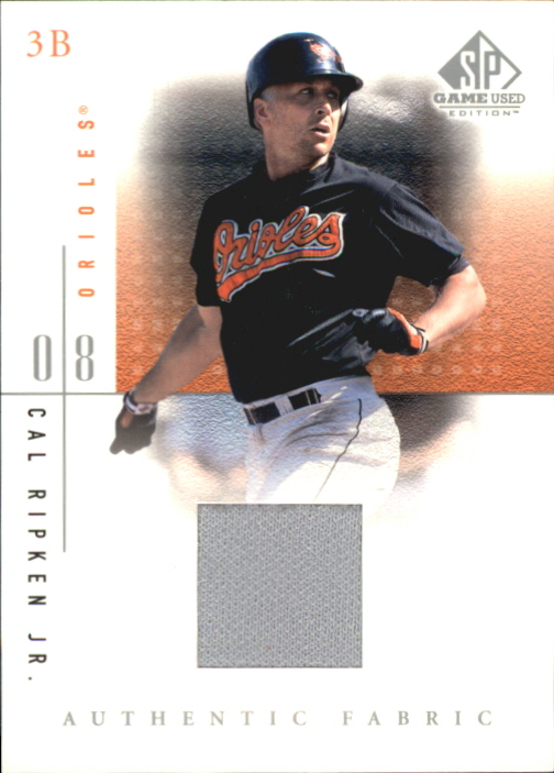 2001 SP Game Used Edition Authentic Fabric #CR Cal Ripken
