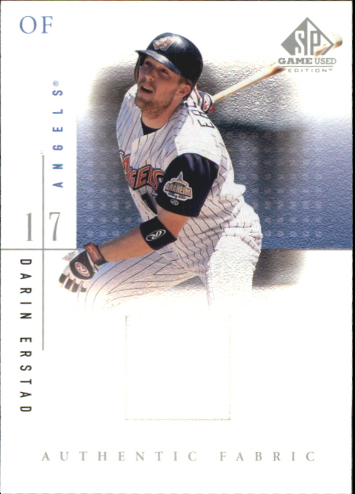 2001 SP Game Used Edition Authentic Fabric #DE Darin Erstad