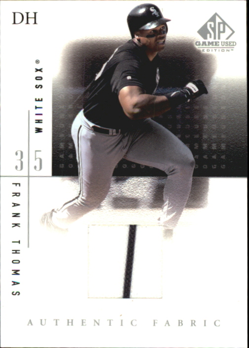 2001 SP Game Used Edition Authentic Fabric #FTH Frank Thomas