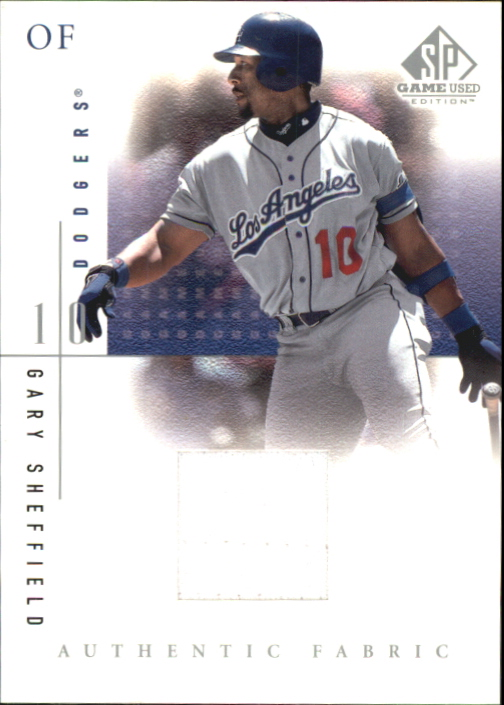 2001 SP Game Used Edition Authentic Fabric #GS Gary Sheffield