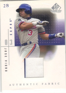 2001 SP Game Used Edition Authentic Fabric #JV Jose Vidro