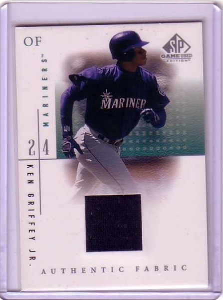 2001 SP Game Used Edition Authentic Fabric #KGM Ken Griffey Jr. Mariners DP