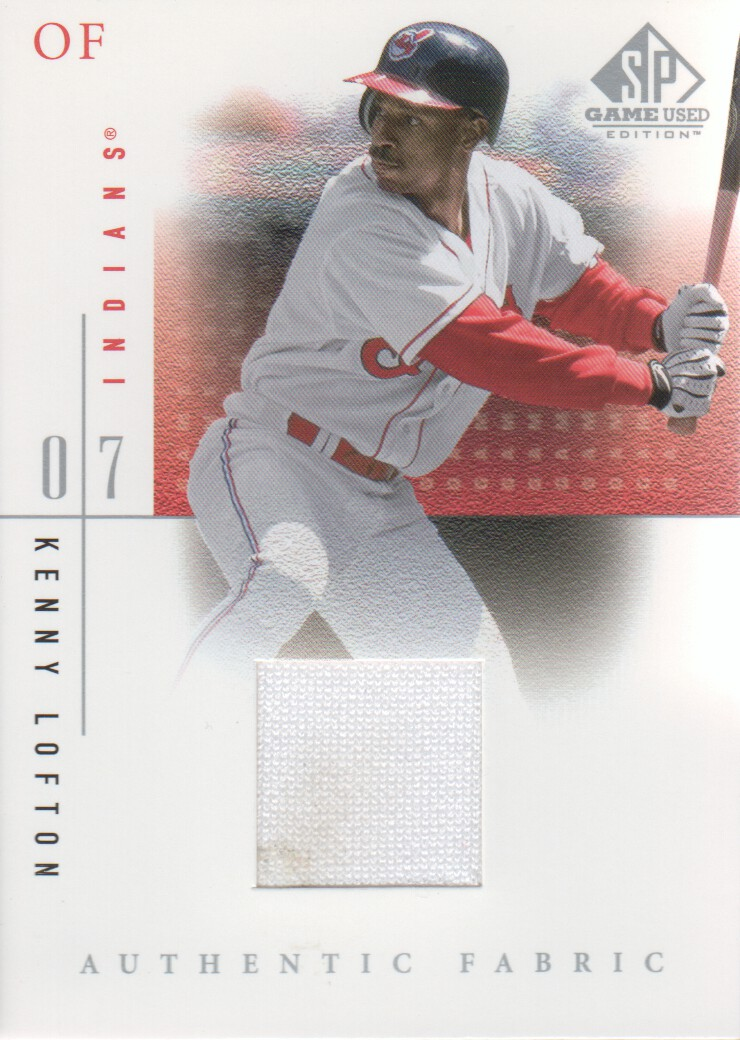 2001 SP Game Used Edition Authentic Fabric #KL Kenny Lofton
