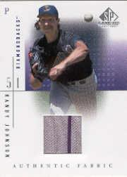 2001 SP Game Used Edition Authentic Fabric #RJ Randy Johnson