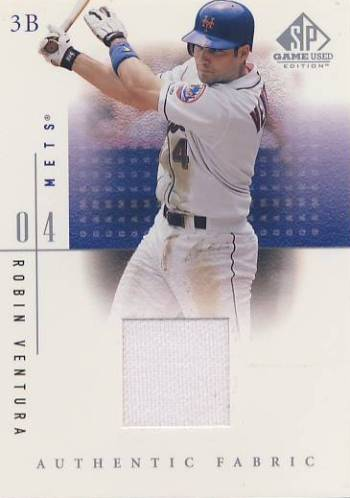2001 SP Game Used Edition Authentic Fabric #RV Robin Ventura