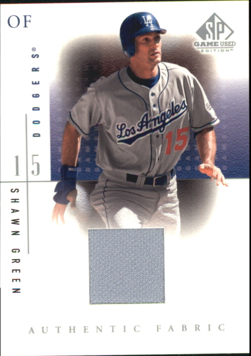 2001 SP Game Used Edition Authentic Fabric #SG Shawn Green