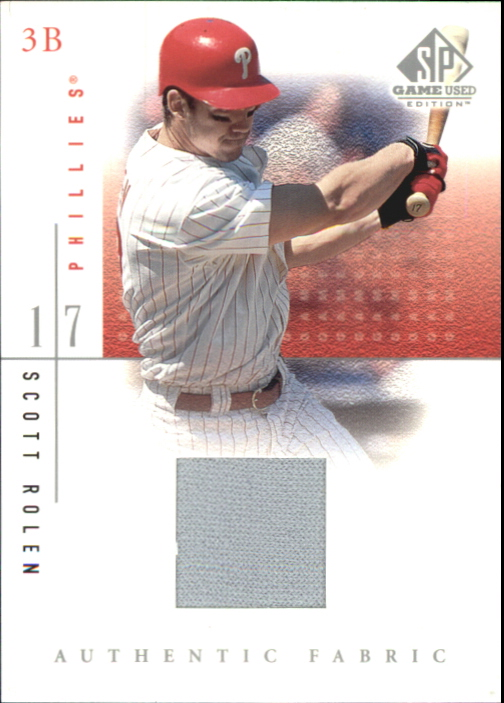 2001 SP Game Used Edition Authentic Fabric #SR Scott Rolen