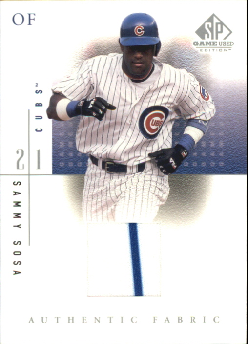 2001 SP Game Used Edition Authentic Fabric #SSH Sammy Sosa Home