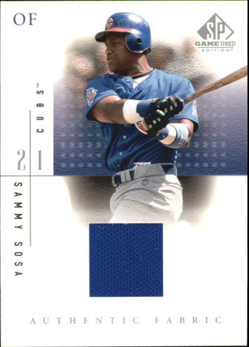2001 SP Game Used Edition Authentic Fabric #SSR Sammy Sosa Road