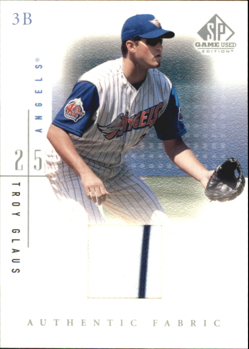 2001 SP Game Used Edition Authentic Fabric #TGL Troy Glaus