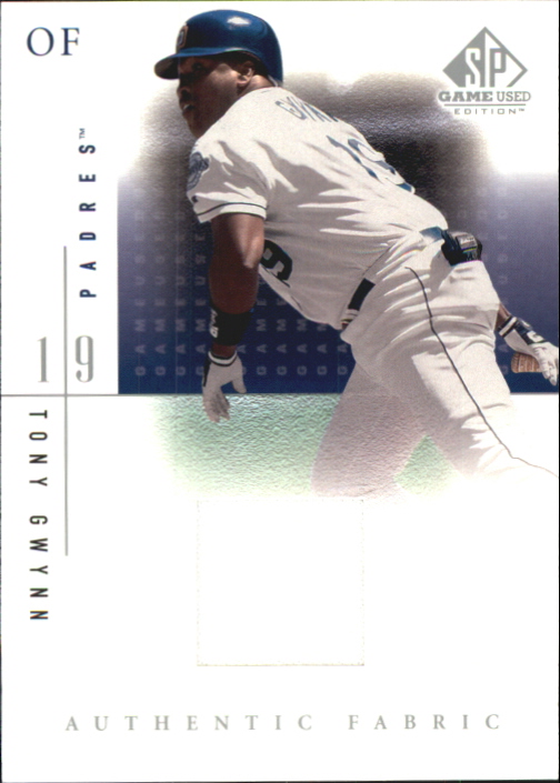 2001 SP Game Used Edition Authentic Fabric #TGW Tony Gwynn DP