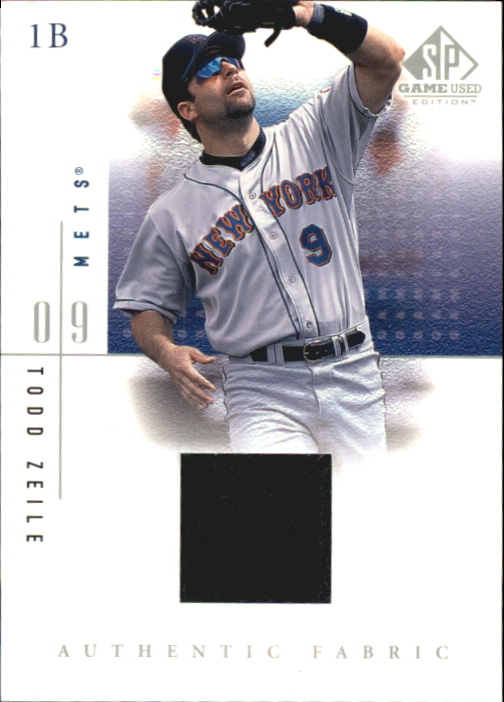 2001 SP Game Used Edition Authentic Fabric #TZ Todd Zeile
