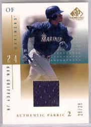 2001 SP Game Used Edition Authentic Fabric 2 #KGM Ken Griffey Jr. Mariners