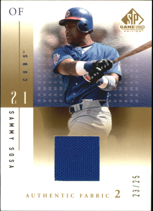 2001 SP Game Used Edition Authentic Fabric 2 #SSR Sammy Sosa Road
