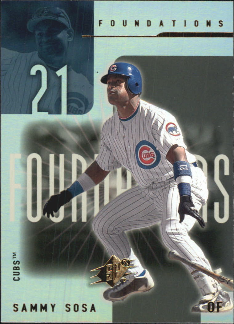 2001 SPx Foundations #F10 Sammy Sosa