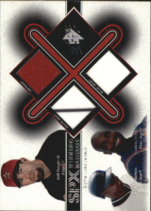 2001 SPx Winning Materials Update Trios #BTD Bagwell/Thomas/Delgado