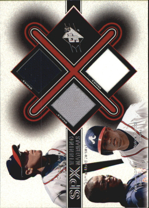 2001 SPx Winning Materials Update Trios #JAF C.Jones/A.Jones/Furcal