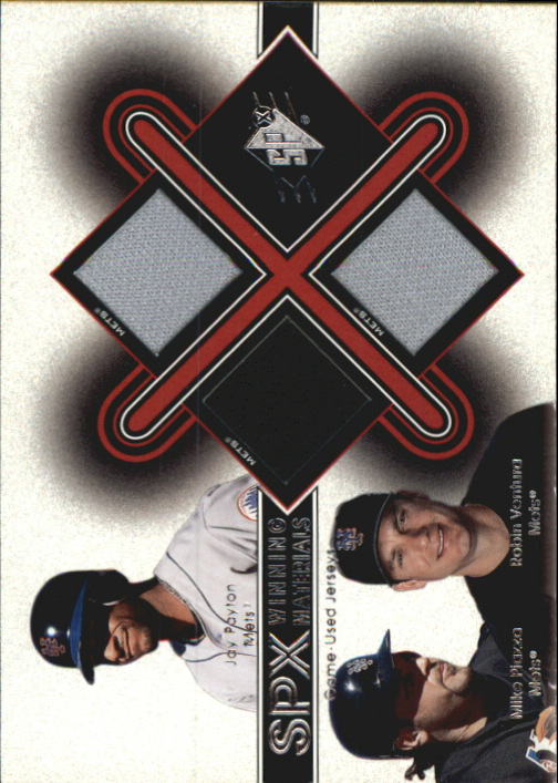 2001 SPx Winning Materials Update Trios #PPV Payton/Piazza/Ventura