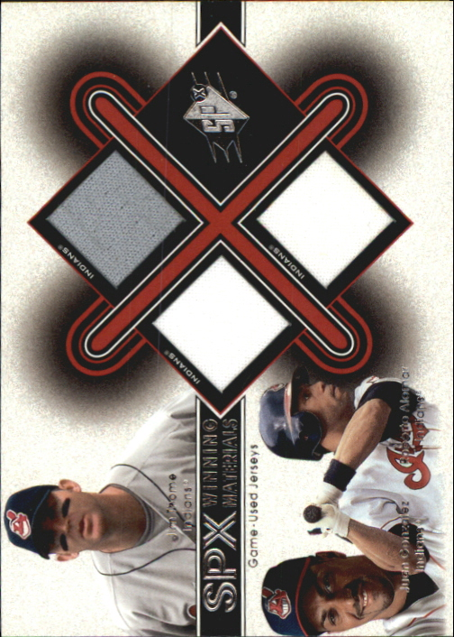 2001 SPx Winning Materials Update Trios #TGA Thome/J.Gonz/R.Alomar