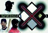 2001 SPx Winning Materials Update Trios Gold #BGG Barry Bonds/Luis Gonzalez/Ken Griffey Jr.