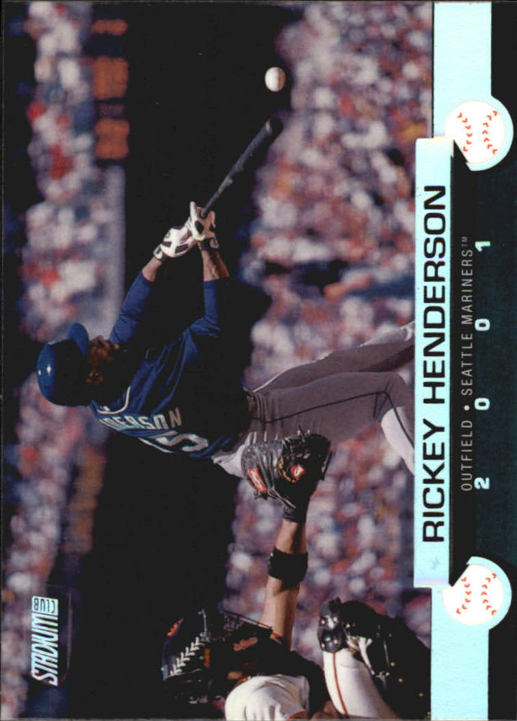 2001 Stadium Club #89 Rickey Henderson
