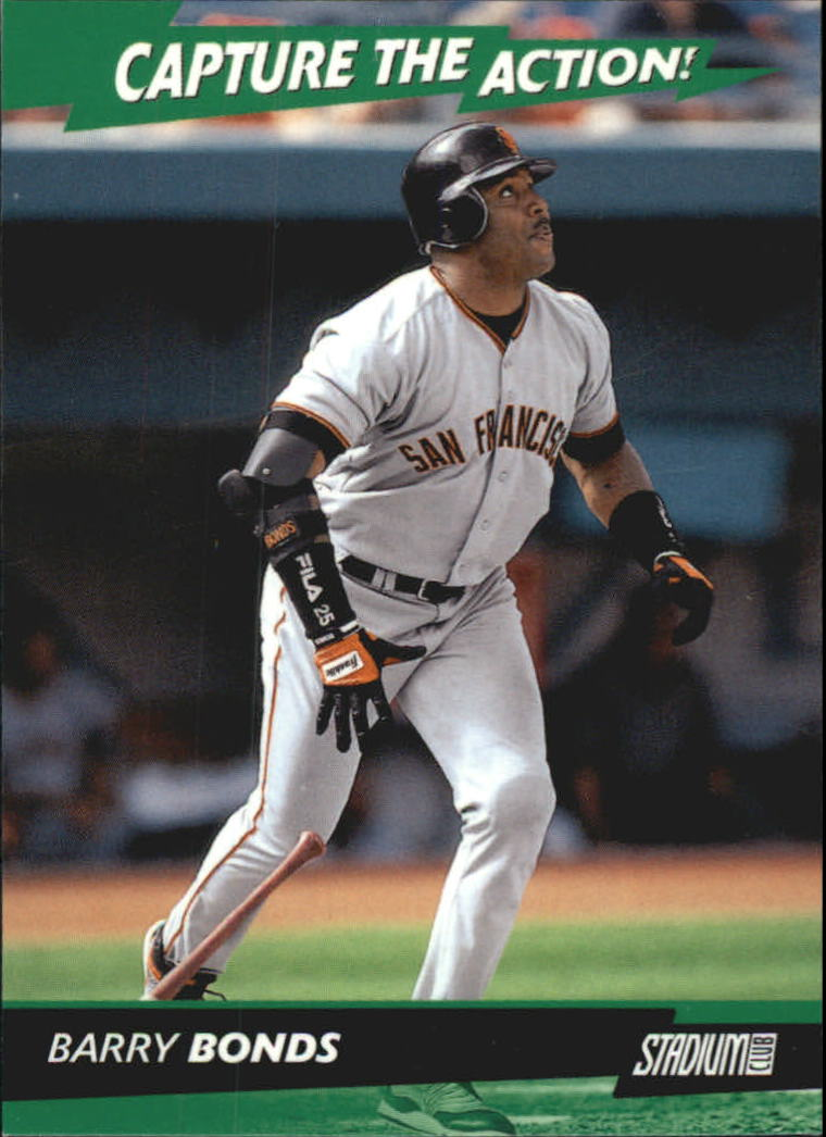 2001 Stadium Club Capture the Action #CA14 Barry Bonds