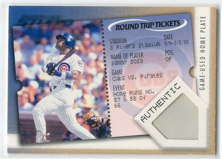 2001 Studio Round Trip Tickets #RT11 Sammy Sosa