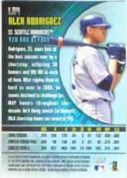 2001 Topps A Look Ahead #LA4 Alex Rodriguez back image