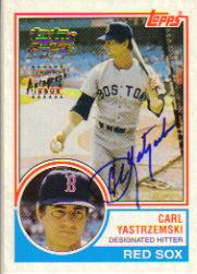 2001 Topps Team Topps Legends Autographs #TT8F Carl Yastrzemski 83