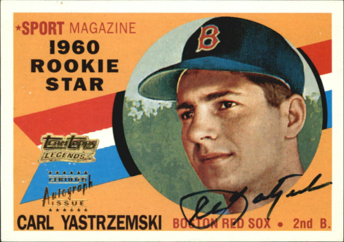 2001 Topps Team Topps Legends Autographs #TT8R Carl Yastrzemski 60