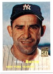 2001 Topps Through the Years Reprints #1 Yogi Berra '57