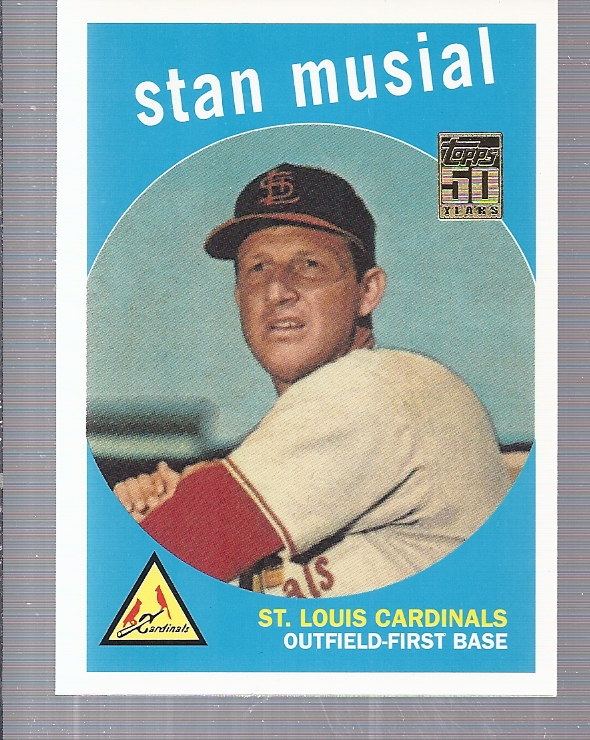 2001 Topps Through the Years Reprints #6 Stan Musial '59