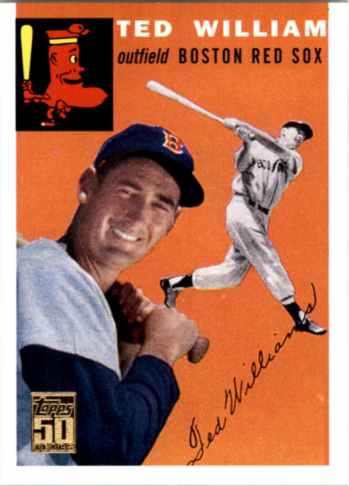 2001 Topps Through the Years Reprints #9 Ted Williams '54