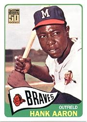 2001 Topps Through the Years Reprints #14 Hank Aaron '65