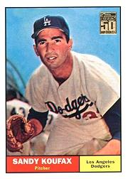 2001 Topps Through the Years Reprints #15 Sandy Koufax '61