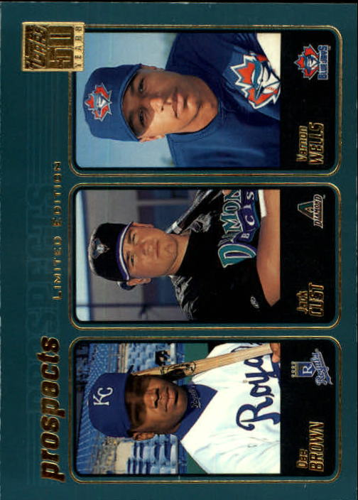 2001 Topps Limited #736 D.Brown/Cust/V.Wells