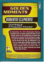 2001 Topps Limited #784 Roberto Clemente GM back image
