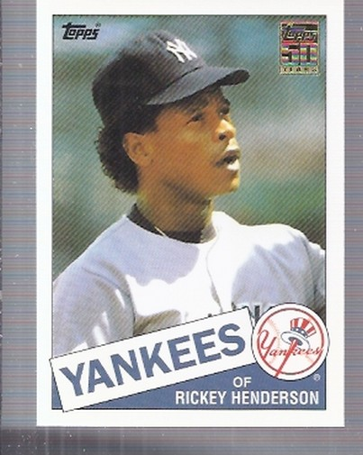 2001 Topps Traded #T113 Rickey Henderson 85