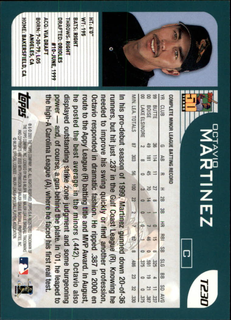 2001 Topps Traded #T230 Octavio Martinez RC