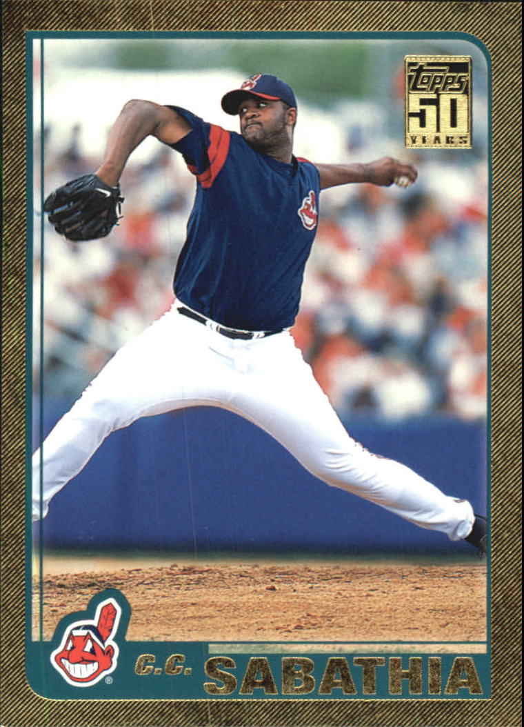 2001 Topps Traded Gold #T88 C.C. Sabathia