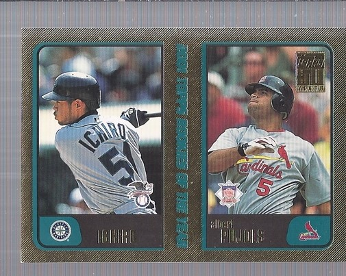 2001 Topps Traded Gold #T99 I.Suzuki/A.Pujols ROY