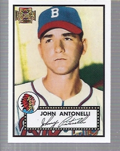 2001 Topps Archives #1 Johnny Antonelli 52