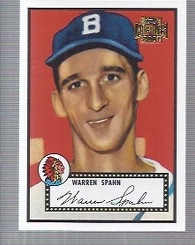 2001 Topps Archives #17 Warren Spahn 52