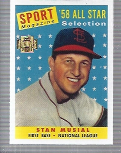 2001 Topps Archives #31 Stan Musial 58