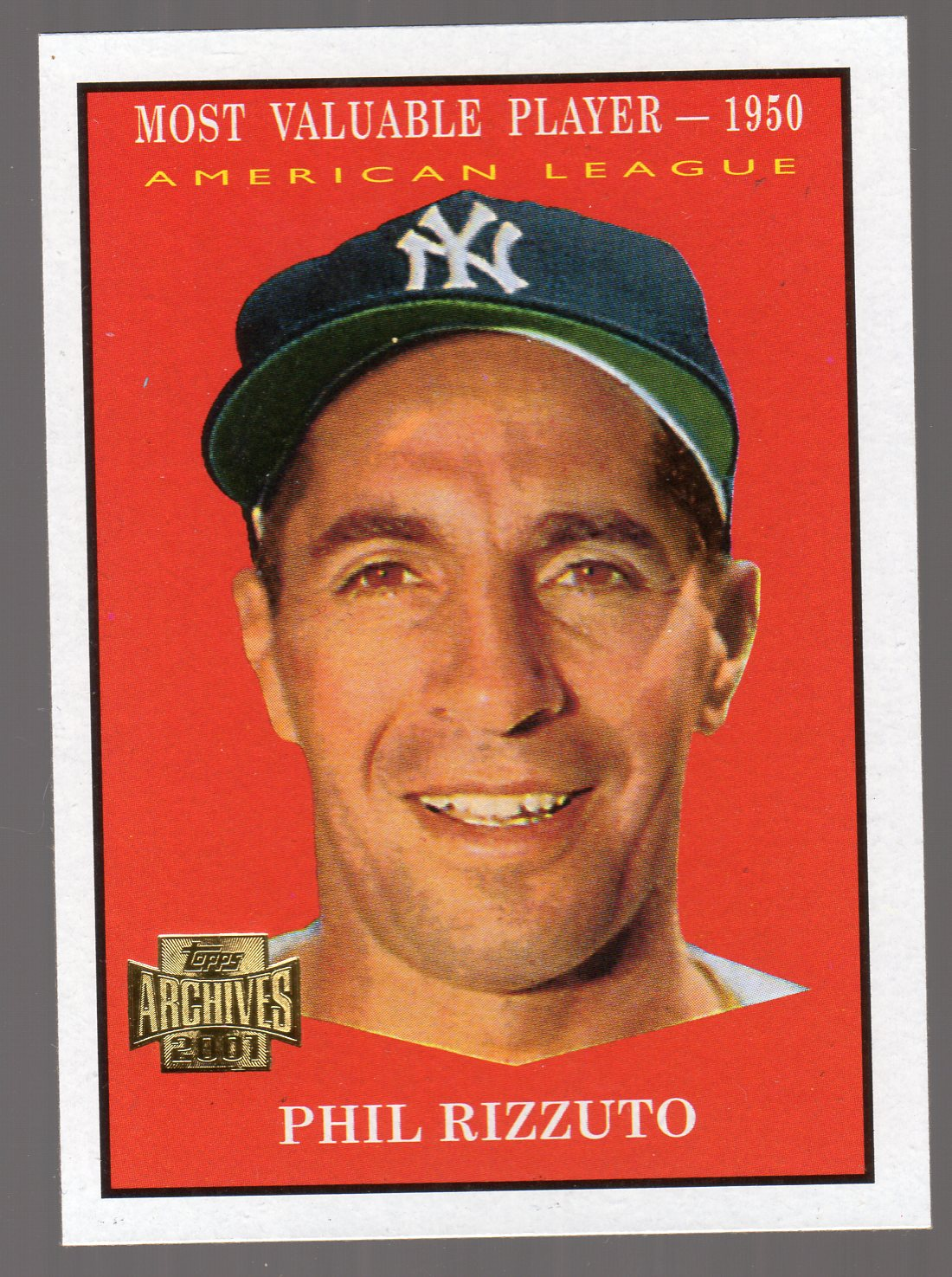 2001 Topps Archives #115 Phil Rizzuto 61