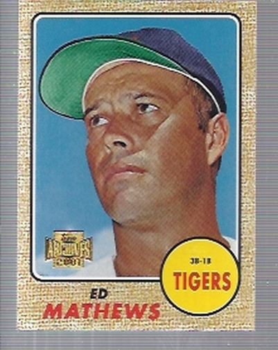2001 Topps Archives #132 Eddie Mathews 68